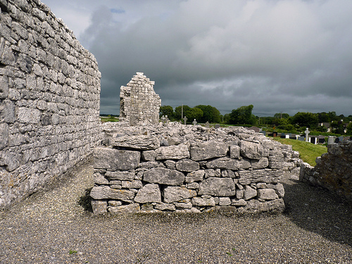 Ruins of St Brigids Nunnery at Cemetery